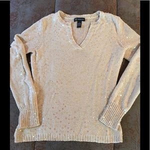 INC v-neck sweater with tonal sequins